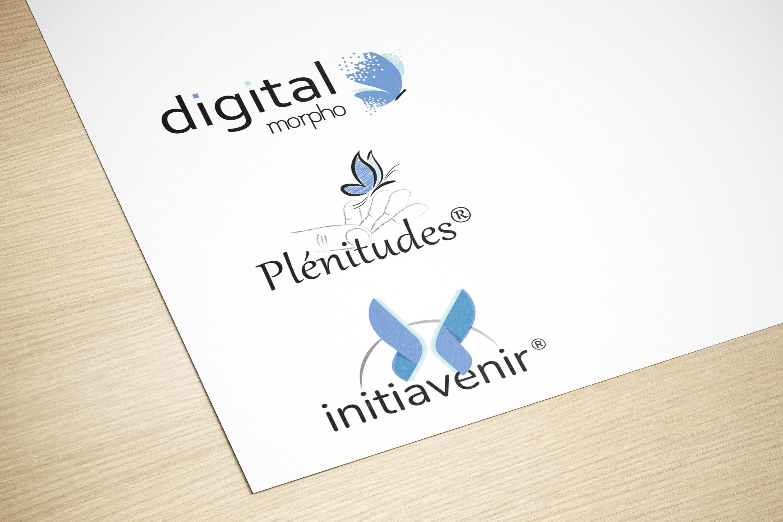 Give You Wings, Studio graphique | Réalisation des logos des marques Digital Morpho®, Plénitudes® et Initiavenir®