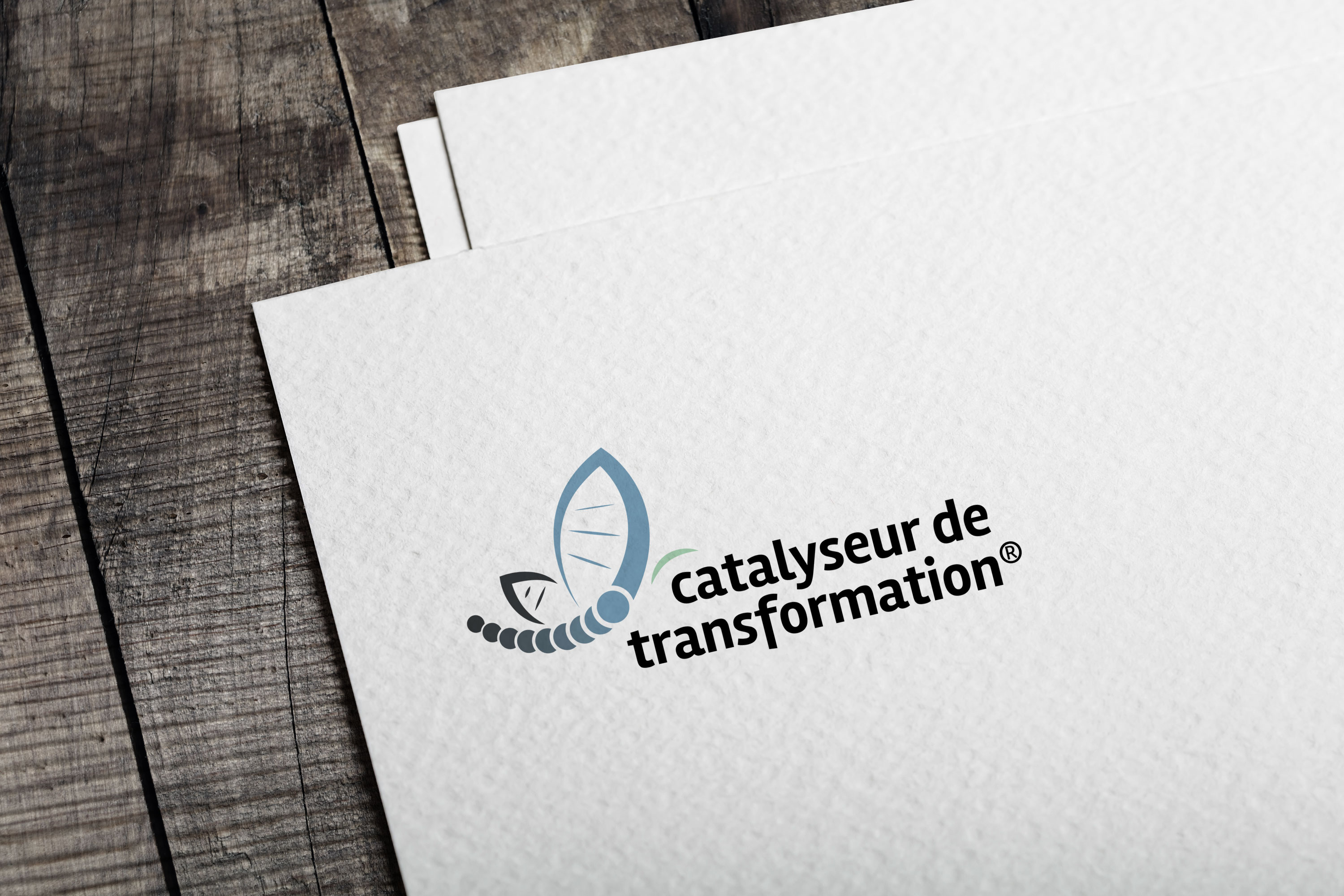 Give You Wings, Studio graphique | Réalisation du logo du réseau Catalyseur de transformation® (1/3)