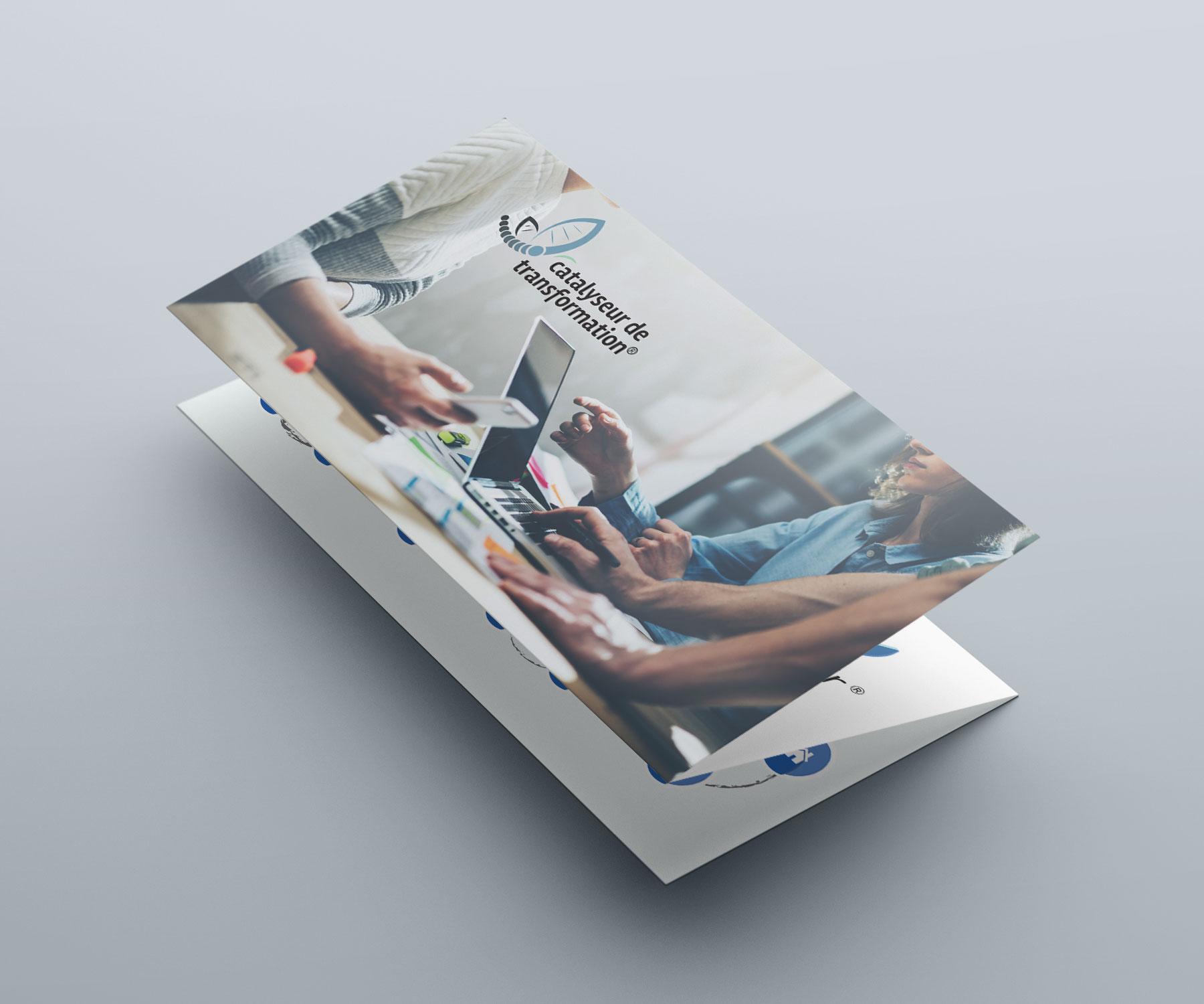 Give You Wings, Studio graphique | Réalisation d'une plaquette commerciale pour le réseau Catalyseur de transformation® (1/3)