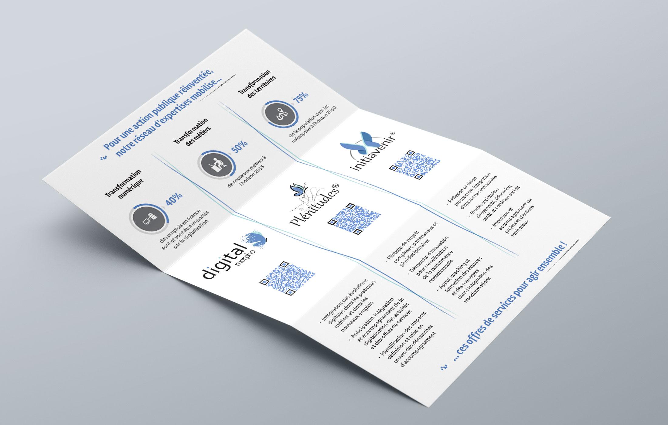 Give You Wings, Studio graphique   Réalisation d'une plaquette commerciale pour le réseau Catalyseur de transformation® (2/3)