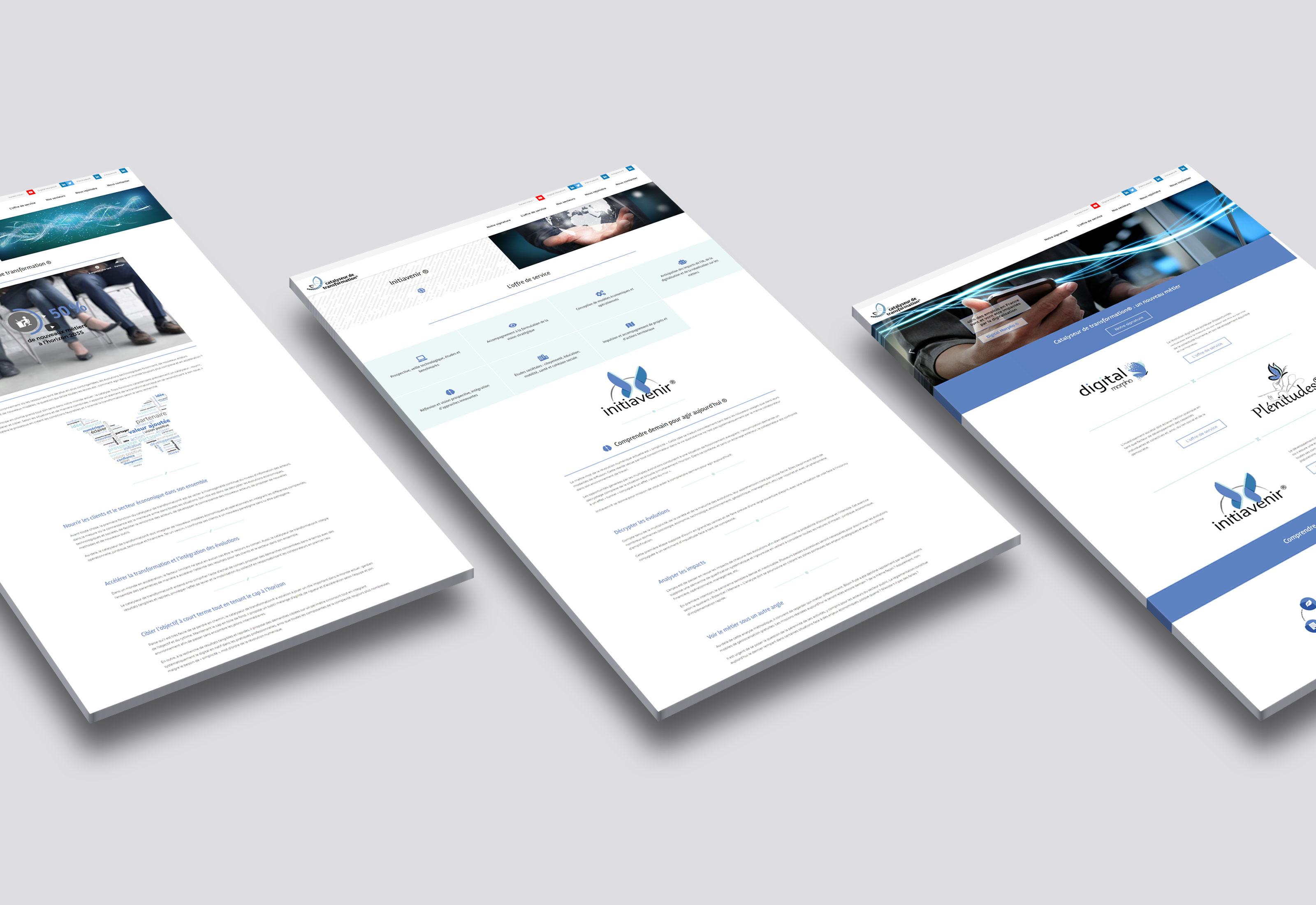 Give You Wings, Studio graphique | Réalisation du site web du réseau Catalyseur de transformation® (3/3)