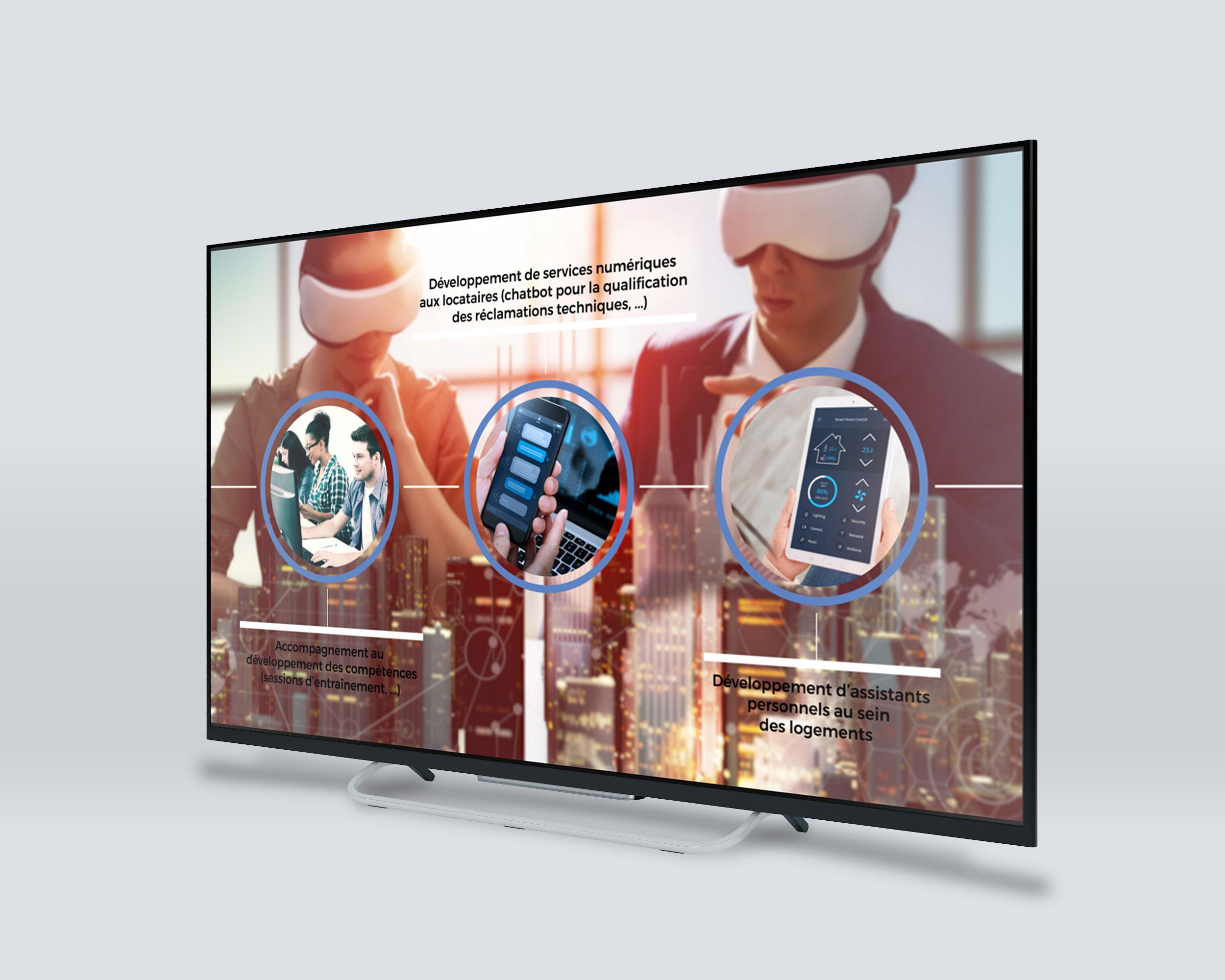 Give You Wings, Studio graphique | Réalisation pour Digital Morpho® d'un clip présentant la transformation digitale dans le secteur du logement (3/3)